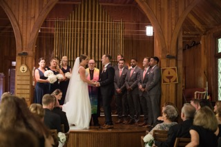 a wedding at our chapel